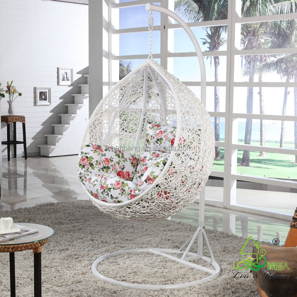 New Trendy Indoor Outdoor Bedroom Balcony Resin Plastic Pvc Pe Rattan  Wicker Single Seat Swing Chair   Buy Bedroom Swing Chair,Single Swing  Chair,Single ...