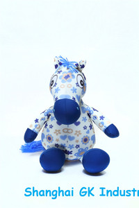Microbeads Stuffed Blue Horse Toys