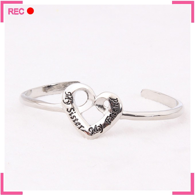 Engraved bracelets wholesale for women, for sisters bangles and bracelet jewelry