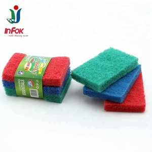 Factory price polyester fiber cleaning scouring pads