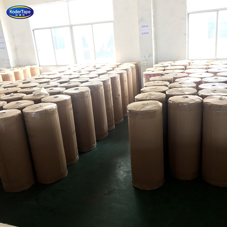 1.02 m papel Kraft marrón cinta adhesiva Jumbo roll