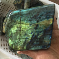 factory direct natural labradorite rough/original crystal stone for sale