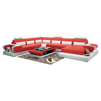 Home Living Room Furniture Red White Leather Sofa,7 Seater Sectional Sofa -  Buy 7 Seater Sectional Sofa,Red Leather Sofa,White Leather Sofa Product on  ...