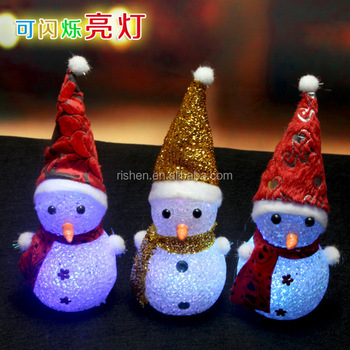 battery operated led snowman for indoor christmas decoration acrylic snowman led