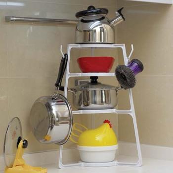 Utensilios organizador ollas y sartenes rack titular for Organizador utensilios cocina