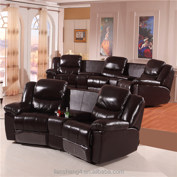 2018 Living Room Leather Home Cinema Sofa Seating Vip Theatre Chair
