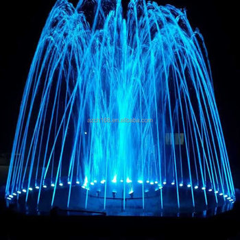 Led Lights Outdoor Pool Water Fountain Round Garden Stone For Square