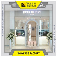 International brand jewelry shop decoration, stainless steel jewelry showcase furniture ,manufacture jewelry showcase for sales
