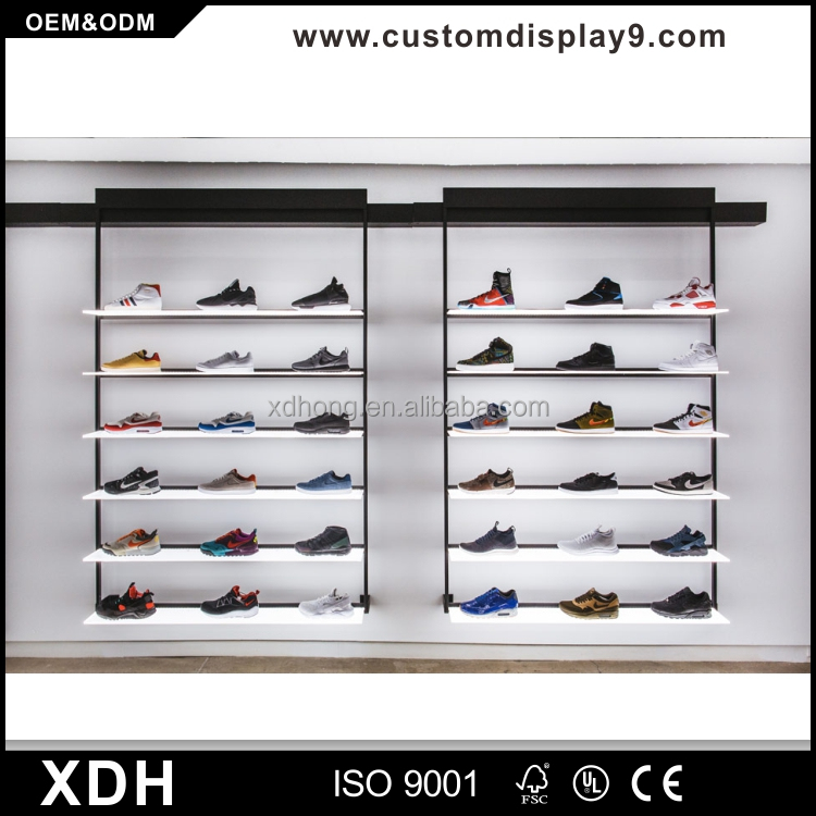 Modern Wood Shoe Display Cabinet Sports Interior Design Product On
