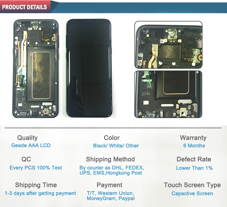 China Factory LCD Touch Screen Digitizer Parts For Samsung S8 Plus