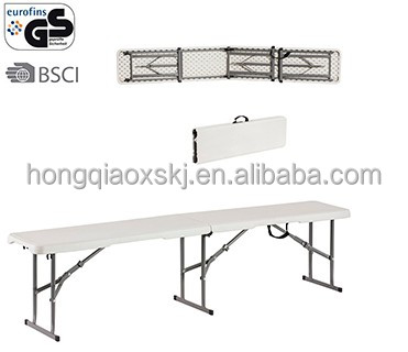 New design portable outdoor picnic patio p[ark greenhouse plastic folding bench