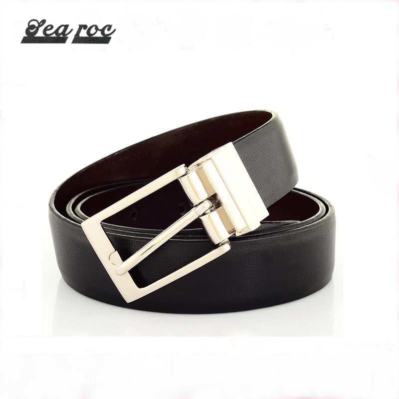 Custom printing names of belt styles mens leather reversible PU material