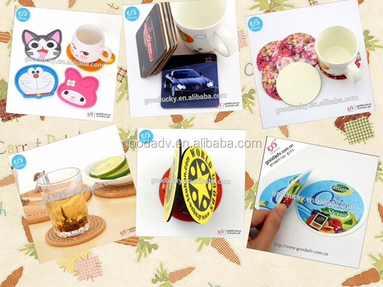 Custom Mdf Coaster Set Table Waterproofing Wood Coaster