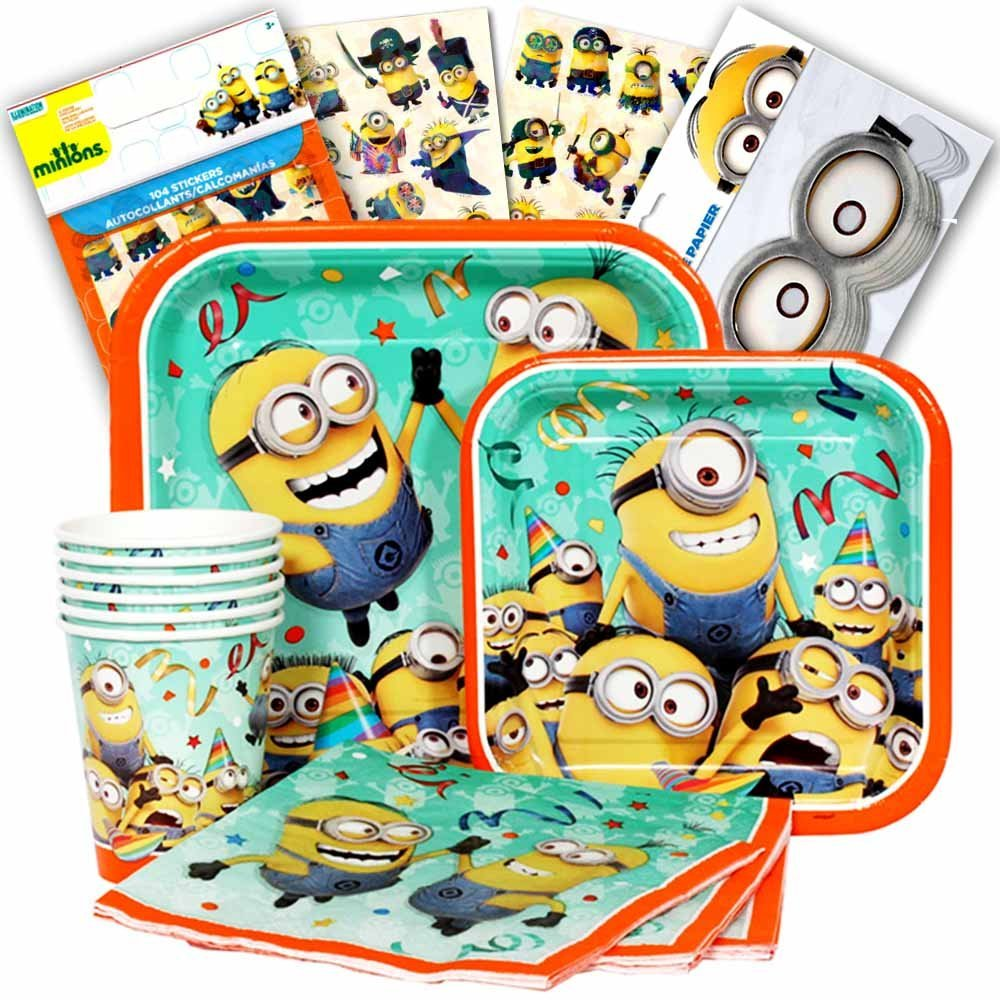 Despicable Me Minions Party Supplies Ultimate Set (Over 50 Pieces) -- Party Favors, Plates, Cups, Napkins and Goggles!