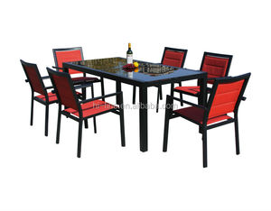 High quality 6pcs tile top bistro coffee table bronze cast aluminum tables and chairs outdoor garden antique furniture