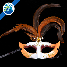 Hot Sale Wholesale Halloween Masquerade Plastic Feather Venice Mask