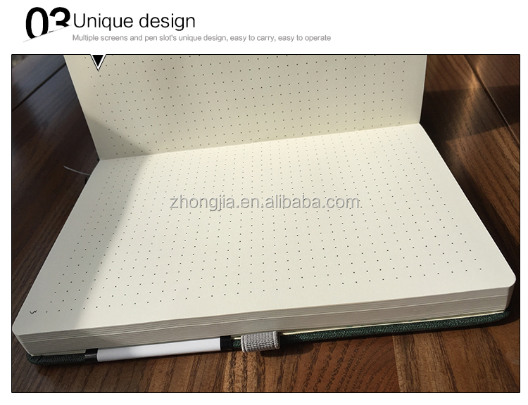 Promotional Items with Custom Logo Dots Journal Stencil Classmate Notebook