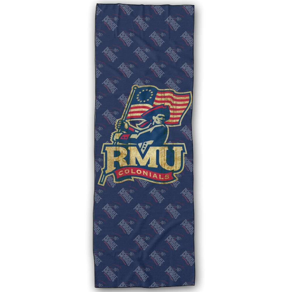Robert Morris University RMU Robert Morris Colonials Logo Yoga Mat Towel