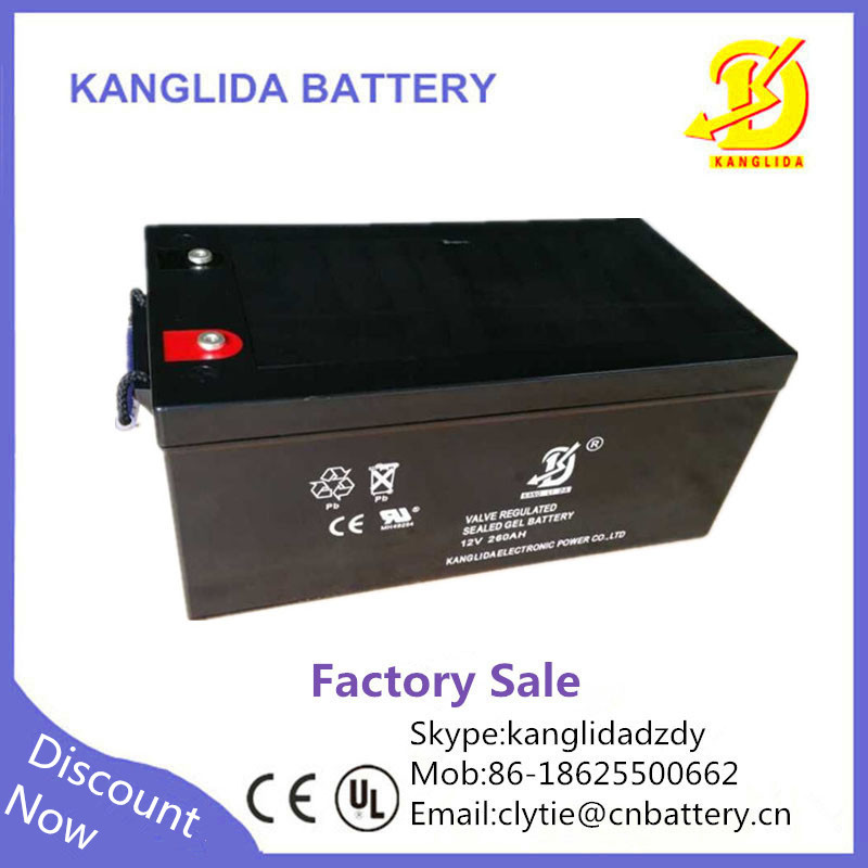 12v 260ah deep cycle lead acid agm vrla battery solar. Black Bedroom Furniture Sets. Home Design Ideas