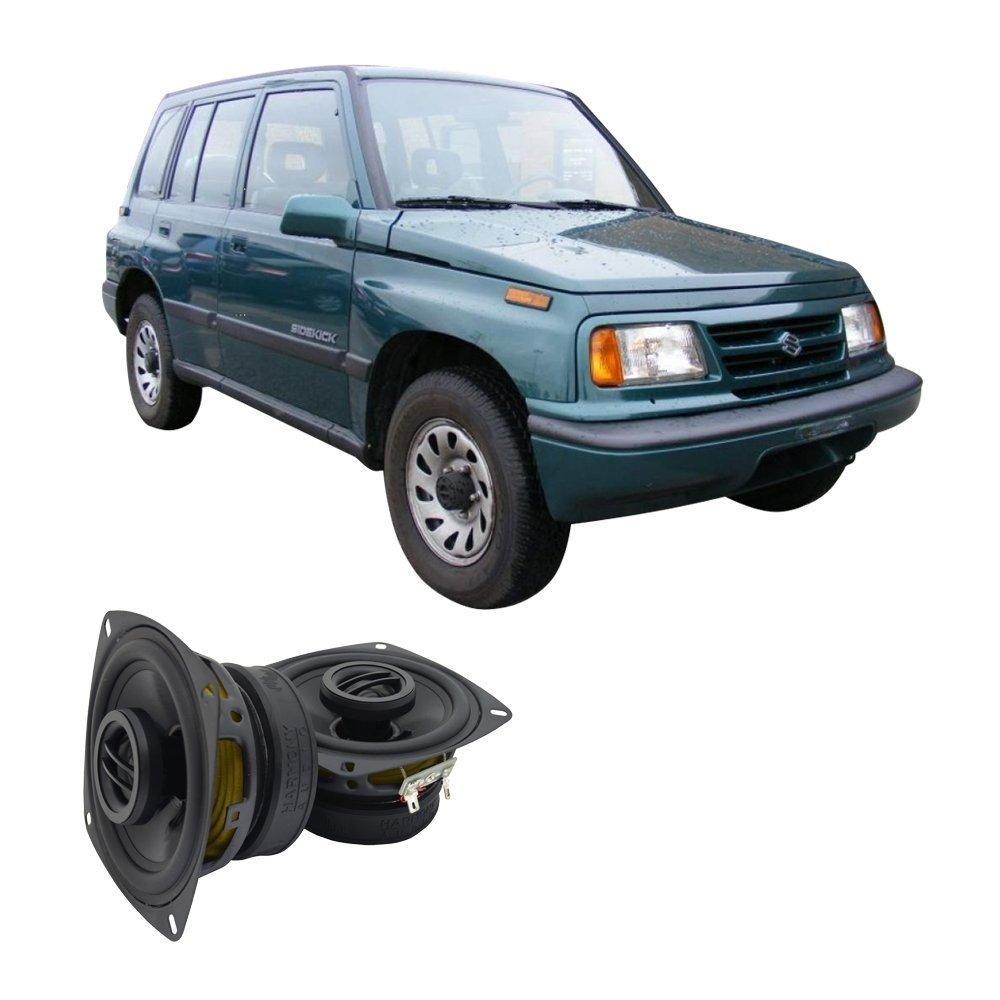 Exterior Door Handles cciyu Door Handle Exterior Front Rear Passenger Side Replacement fit for 1999-2004 Chevrolet Tracker Textured Black