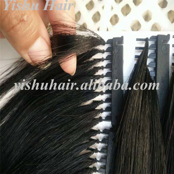 2018 Newest products high quality double drawn cuticle aligned remy hair no glue invisible 6D human hair extensions