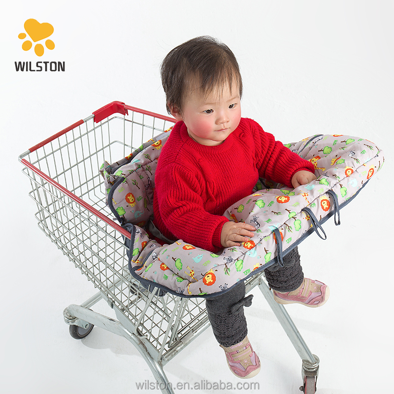 Customized forest animals Baby Shopping Cart Cover with bottle strap new baby products high chair cover