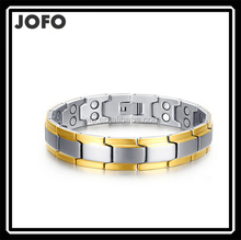Men's Black Titanium Steel Negative Ion Magnet Therapy Health Care Anti-fatigue Bracelet