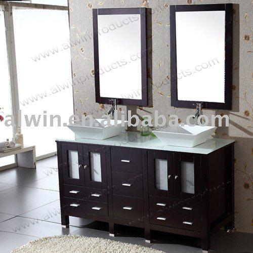 Double vier vanit meuble lavabo de salle de bain id de - Double evier salle de bain ...