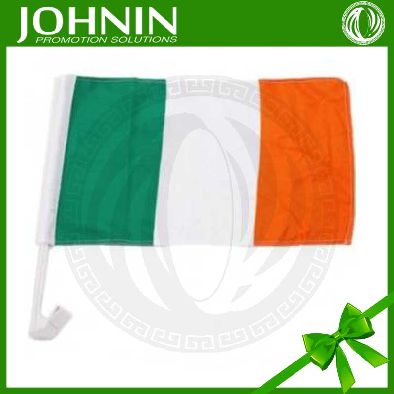 Wholesale polyester customized advertising factory ireland car flag