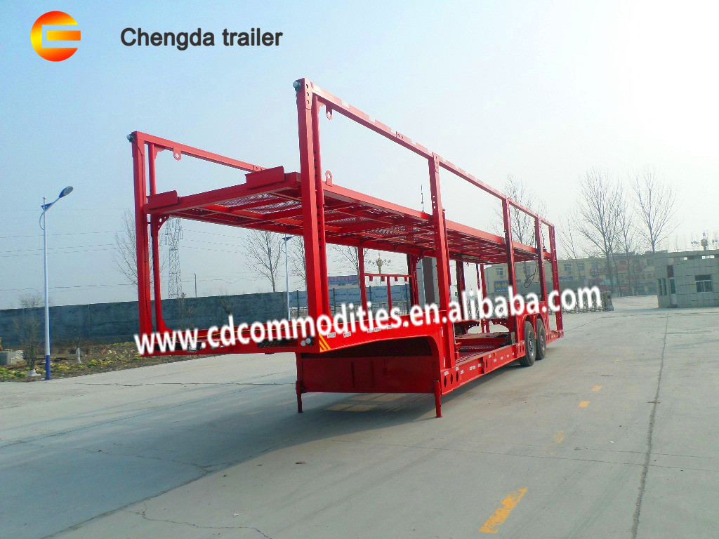 Double Level 2 axles  car carrier truck trailer  in new condition