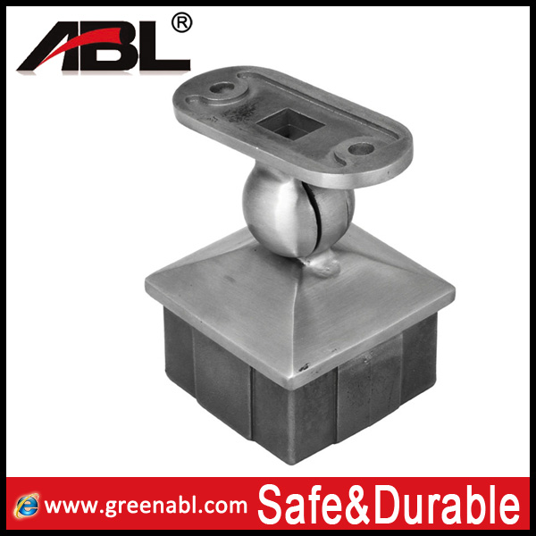 square pipe mounting bracket/ stainless steel handrail bracket