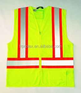 ANSI, CSA High Visibility Class 2 Safety Vest Contrasted reflective workwear