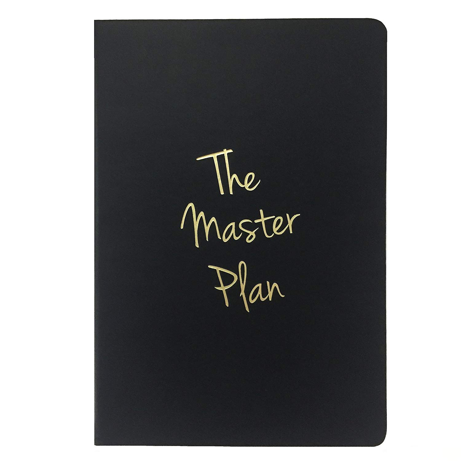 LUNARBAY : Marble Notebook / The Master Plan Notebook / Marble Stationery (Black : The Master Plan)