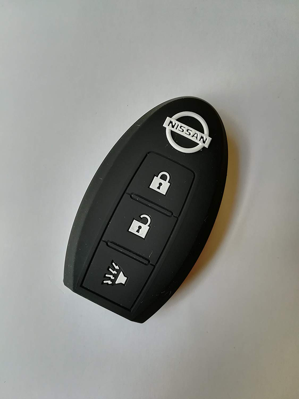 KAWIHEN Silicone 4 buttons Keyless Entry Smart Remote Key Fob Cover Protector For Nissan 350Z 370Z Altima Armada GT-R Leaf Pathfinder Rogue Sentra Maxima Murano Versa CWTWB1U840 285E3-3SG0D Sky Blue