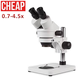 Cheapest XTD-229 Zoom Stereo Microscope 0.7x-4.5x