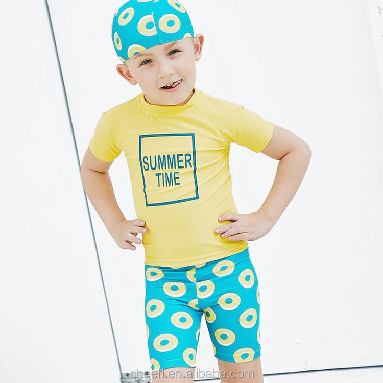 22e40177e9377 2017 SGS testing guarantee UPF 50+ UV sun protection kids swimwear