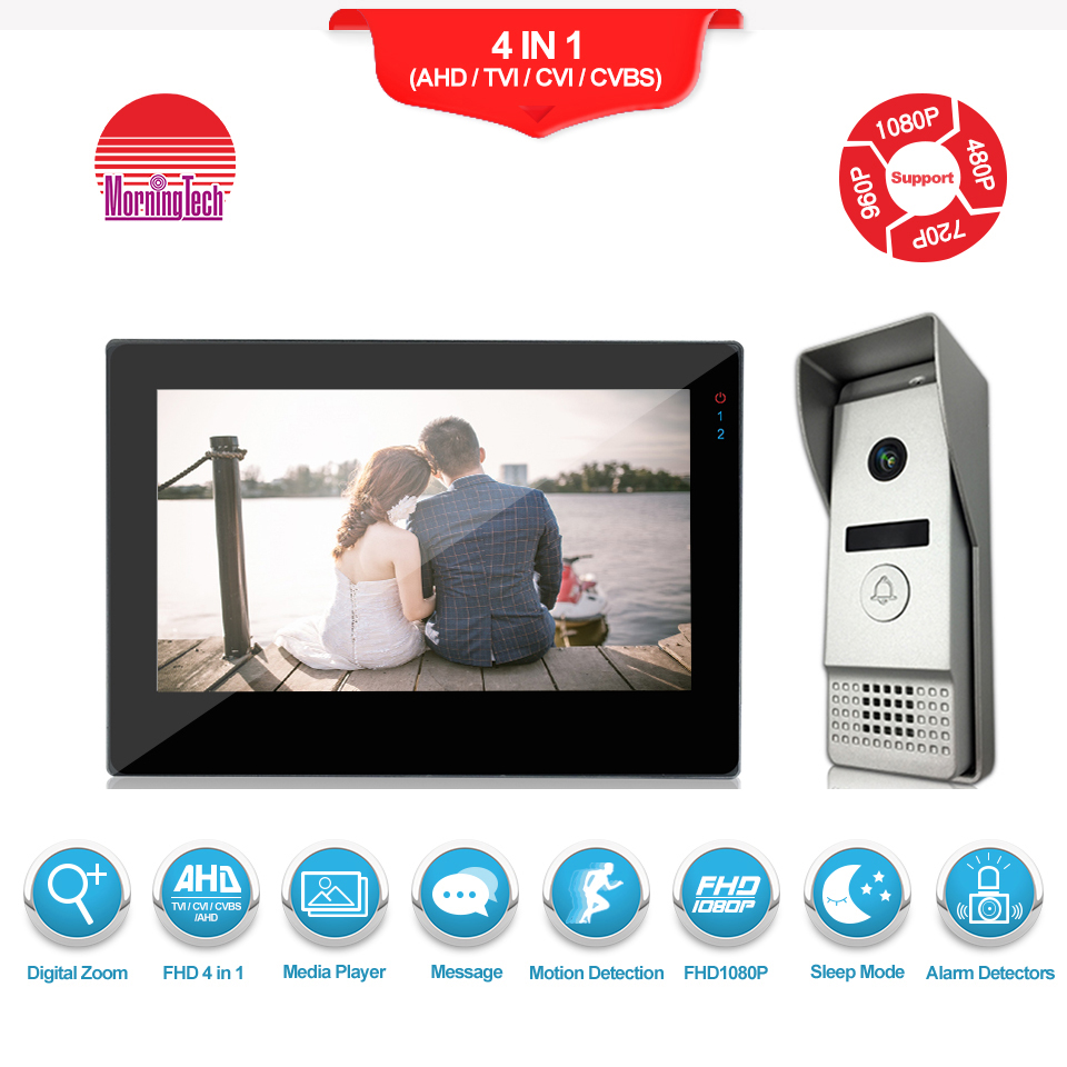 Villa touch screen Wired Video Door Phone Intercom System with outdoor call panel
