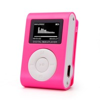 Mini Clip MP3 Player with LED Screen Support 32GB Micro TF/SD Card Slot Sports MP3 Music Player