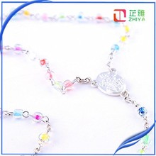 children cute transparent shiny crystal rosary