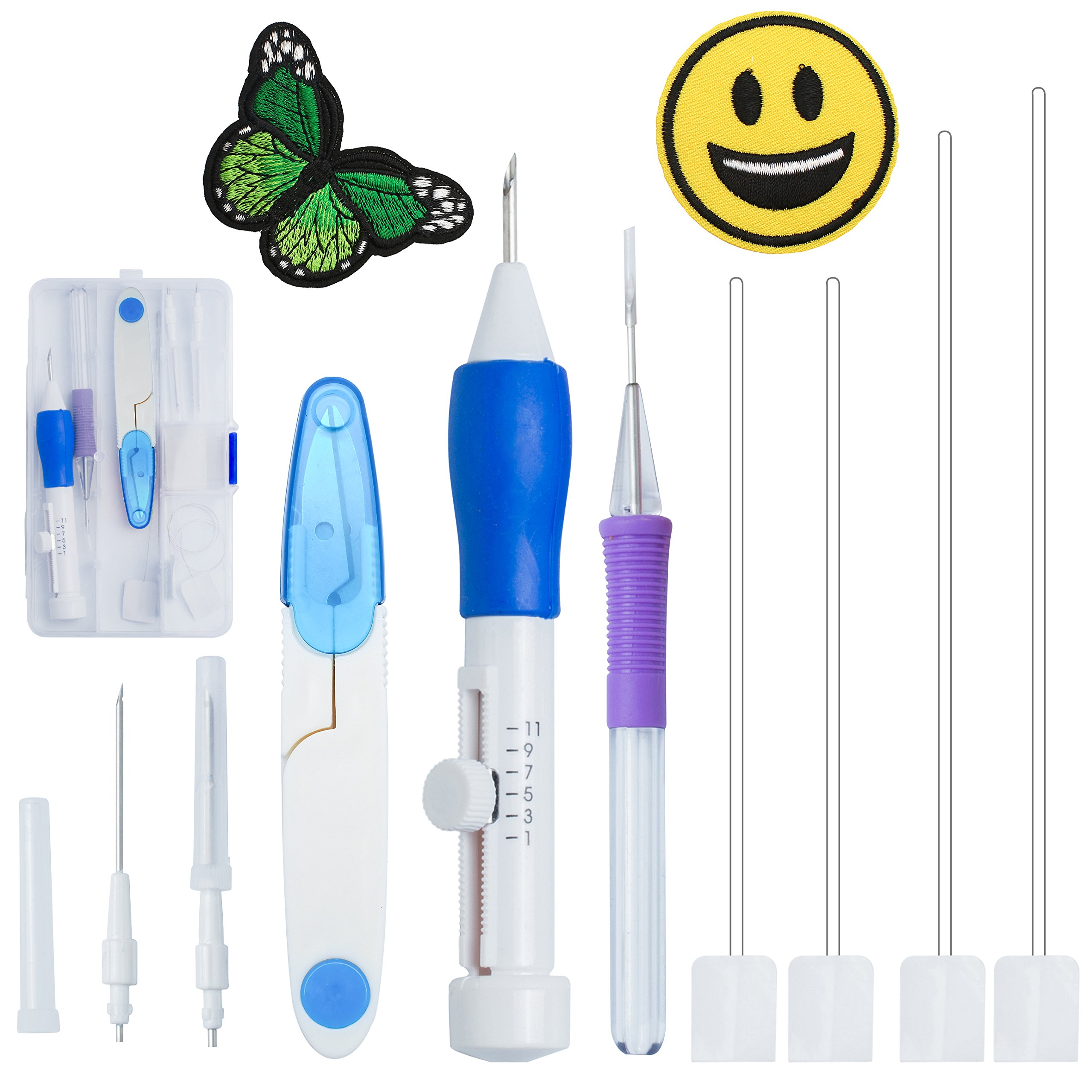 DIY Embroidery Pen Punch Needle Tool Set Craft Knitting Sewing Kit Tools