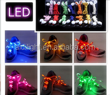 LED Shoelaces Light Up Shoe Laces with 3 Flashing Modes Lighting the Night for Christmas Gift Party