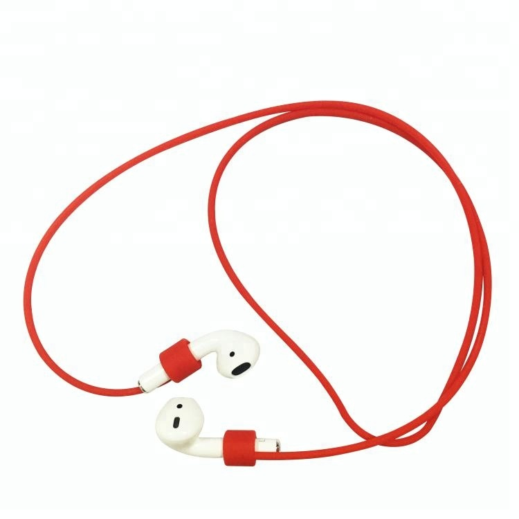Fashion Design 55cm Anti Lost Wireless Headphone Earphone Neck Strap for Airpods Silicone string Cord Rope