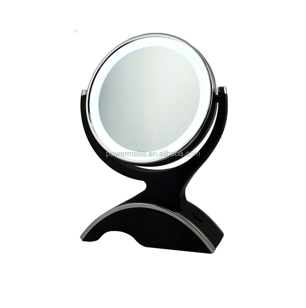 10x/1x LED lighted vanity mirrors, LED cosmetic mirrors, double sided makeup mirrors
