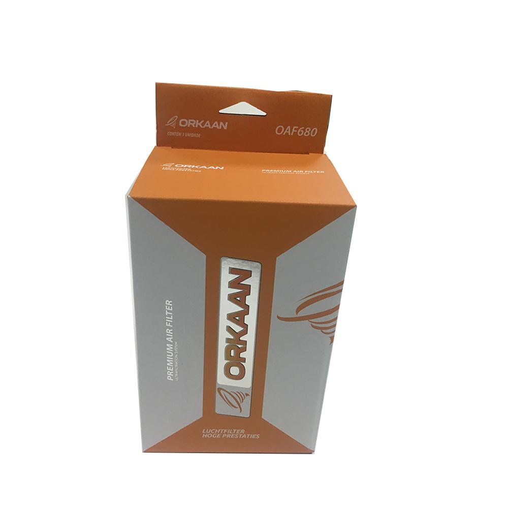 कस्टम डिजाइन सुंदर नारंगी पैकेजिंग बॉक्स के साथ अलक पन्नी मुद्रांकन
