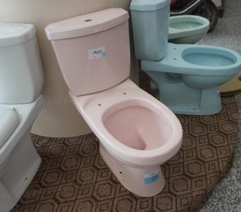 Salle De Bain Deux Pièces Rose Couleur Wc Toilettes - Buy Couleur ...