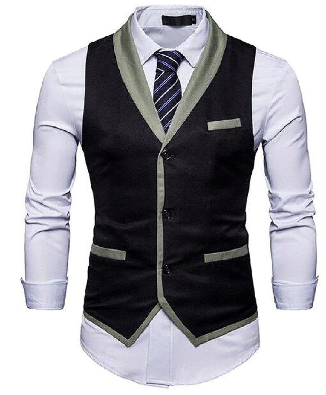 DressUMen Long Sleeve Fitted Business Classic Lapel Collar Top Shirt