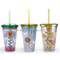 Lincond New Acrylic trumbler Water Cup for Cold Drinkware