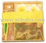 Spa Gifset - Candles, Incense and Holder - Yellow Ylang Ylang