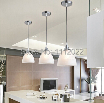 moderne blanc panach verre ombre e27 seule led pendentif luminaire pour salle manger bar. Black Bedroom Furniture Sets. Home Design Ideas