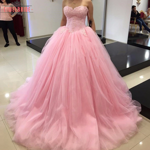 Pink Plus Size Bridal Luxury Wedding Dress